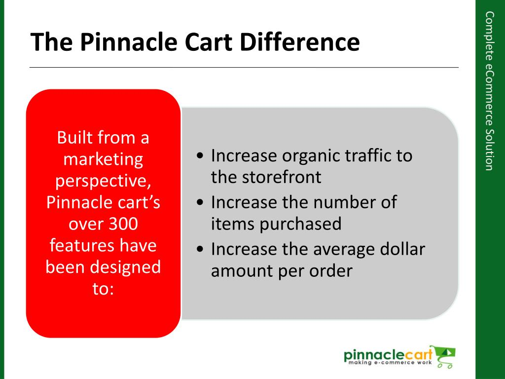 The Pinnacle Cart Difference