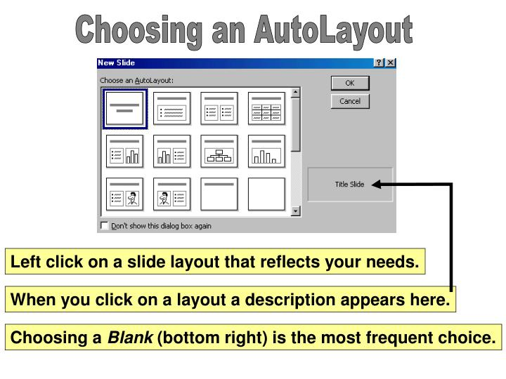 Choosing an AutoLayout