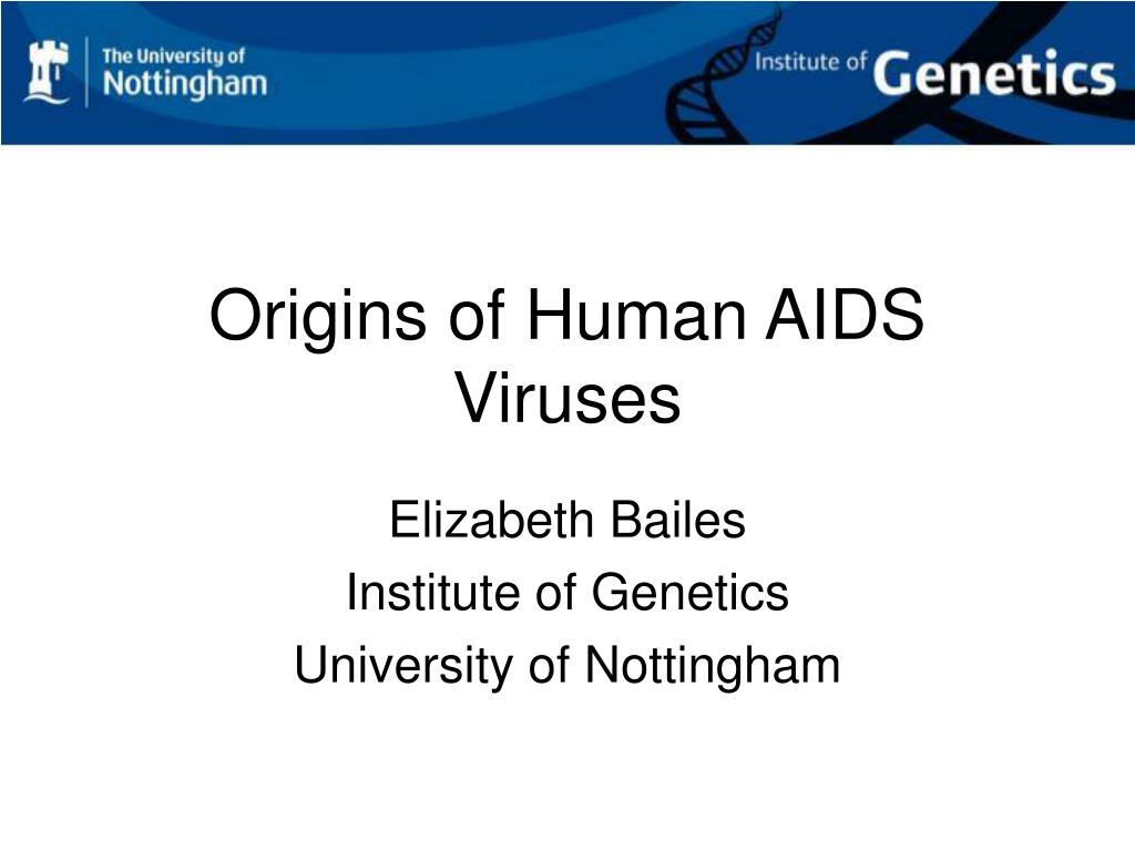origins of human aids viruses l.