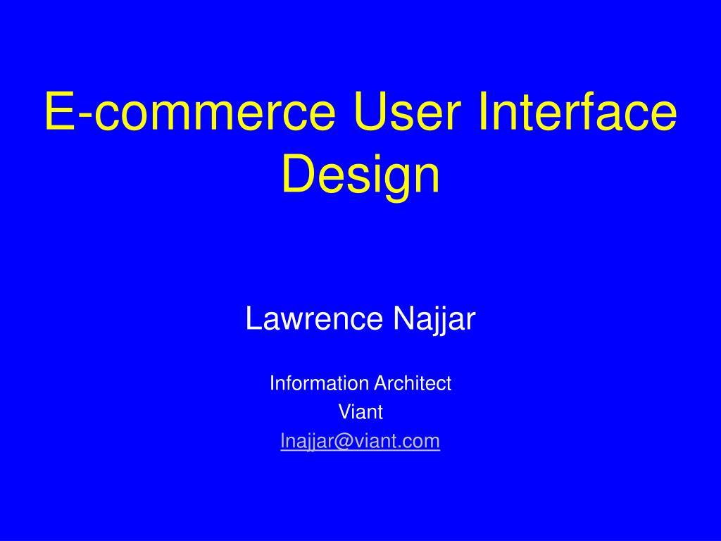 e commerce user interface design l.