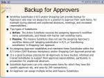 backup for approvers
