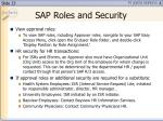 sap roles and security