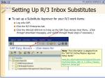 setting up r 3 inbox substitutes