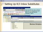setting up r 3 inbox substitutes12