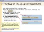 setting up shopping cart substitutes