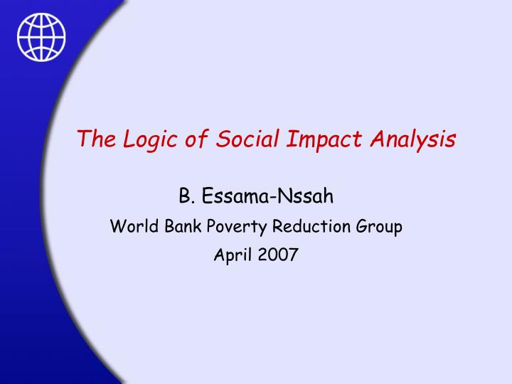 the logic of social impact analysis n.