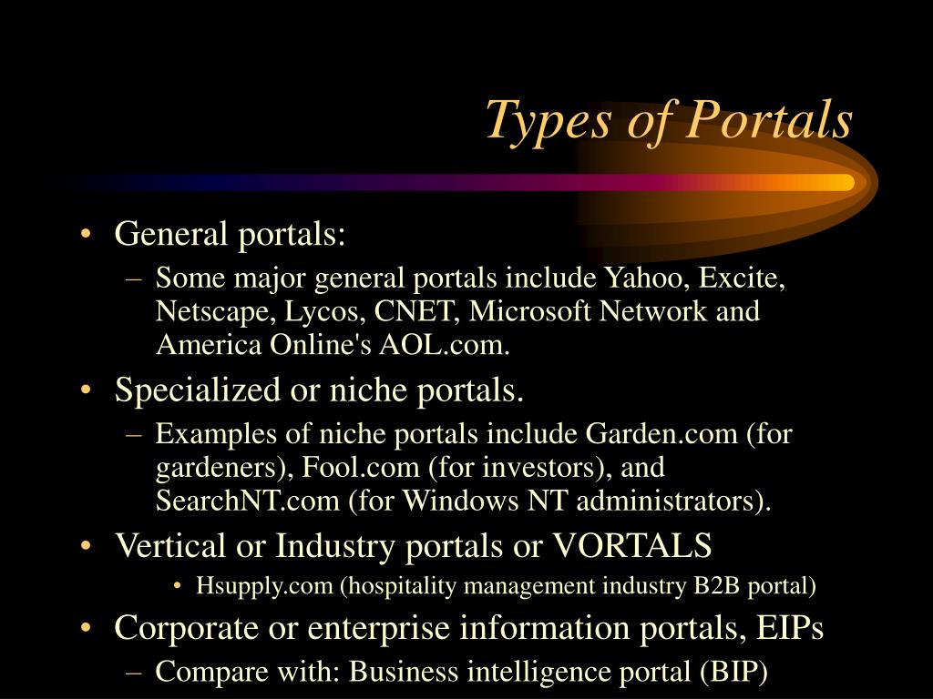 Types of Portals