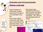 customize your first presentation choose a new look