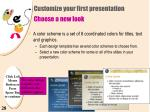 customize your first presentation choose a new look26