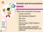 customize your first presentation contents
