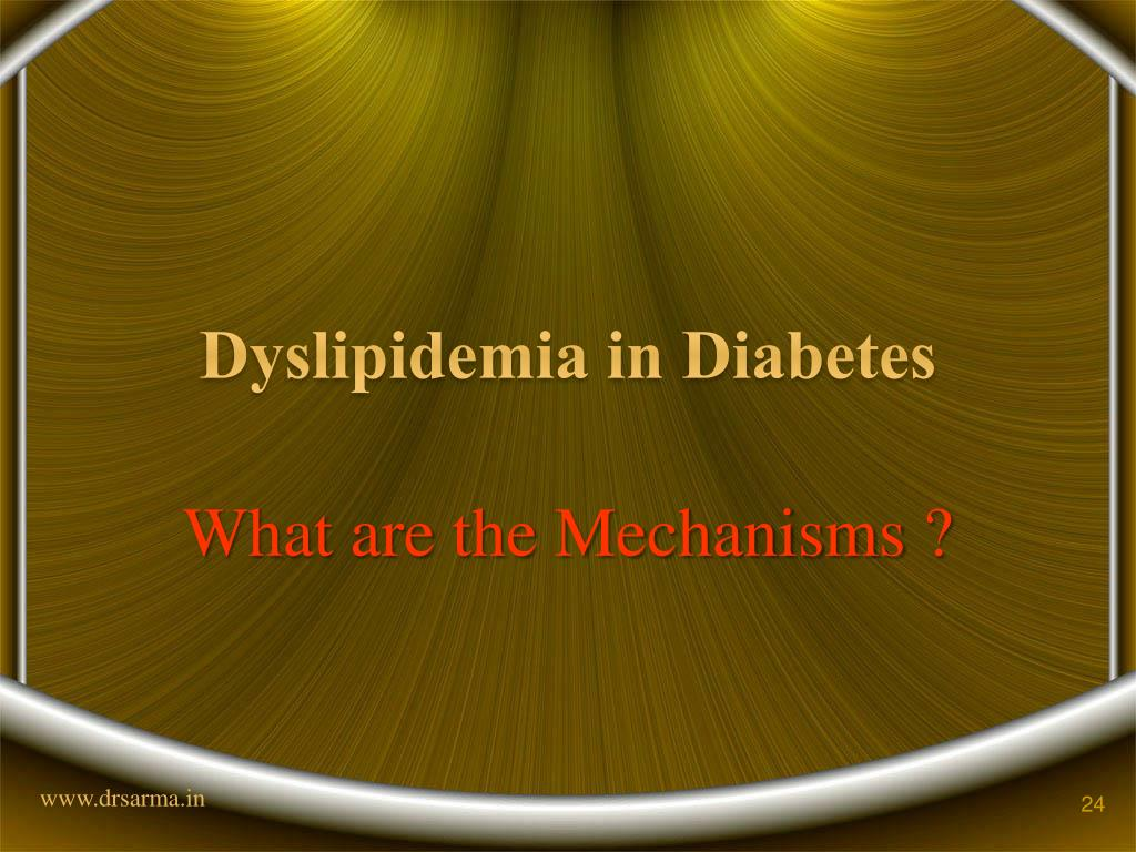 Dyslipidemia in Diabetes