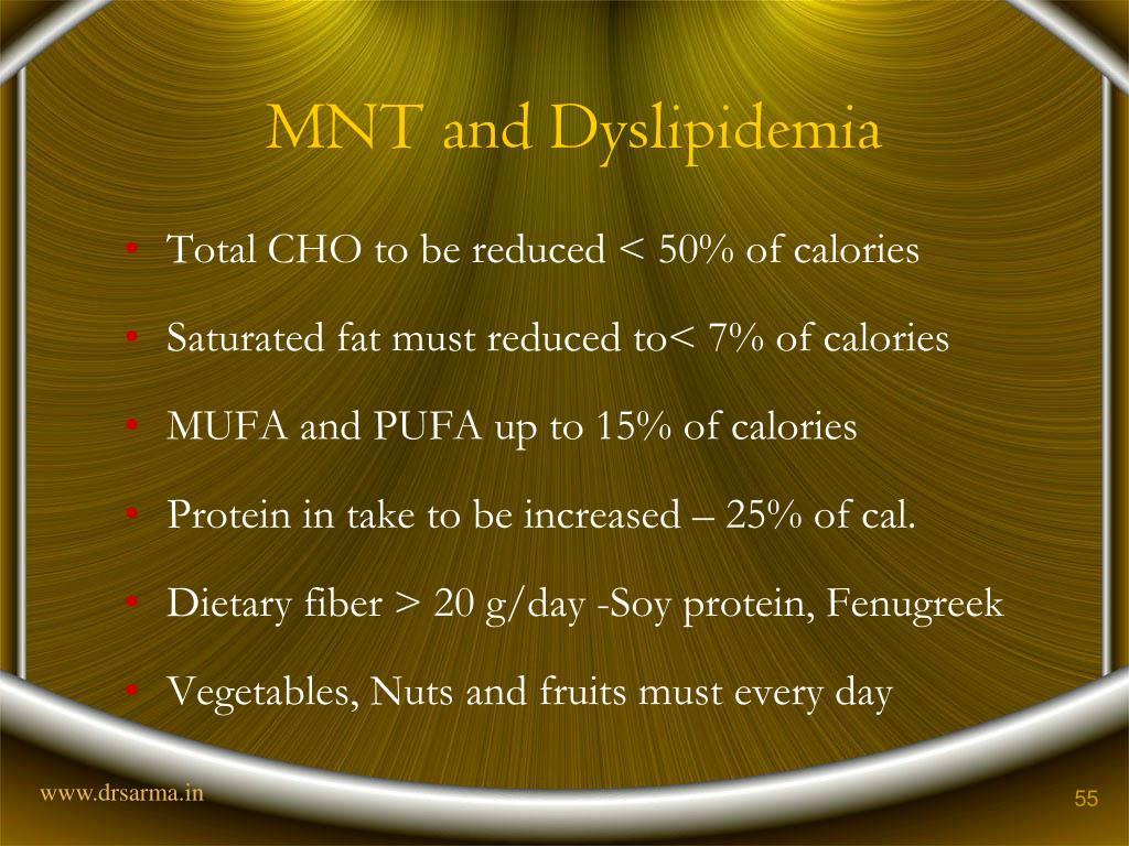 MNT and Dyslipidemia