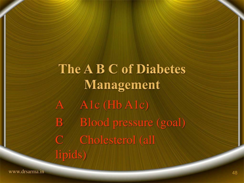 The A B C of Diabetes Management