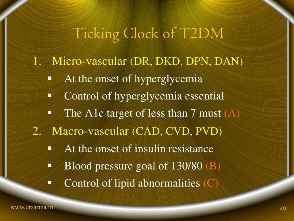 Ticking Clock of T2DM