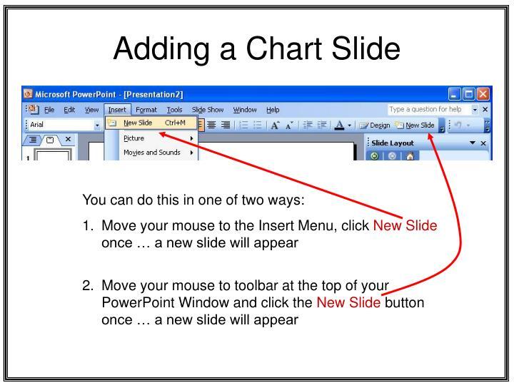 Adding a chart slide