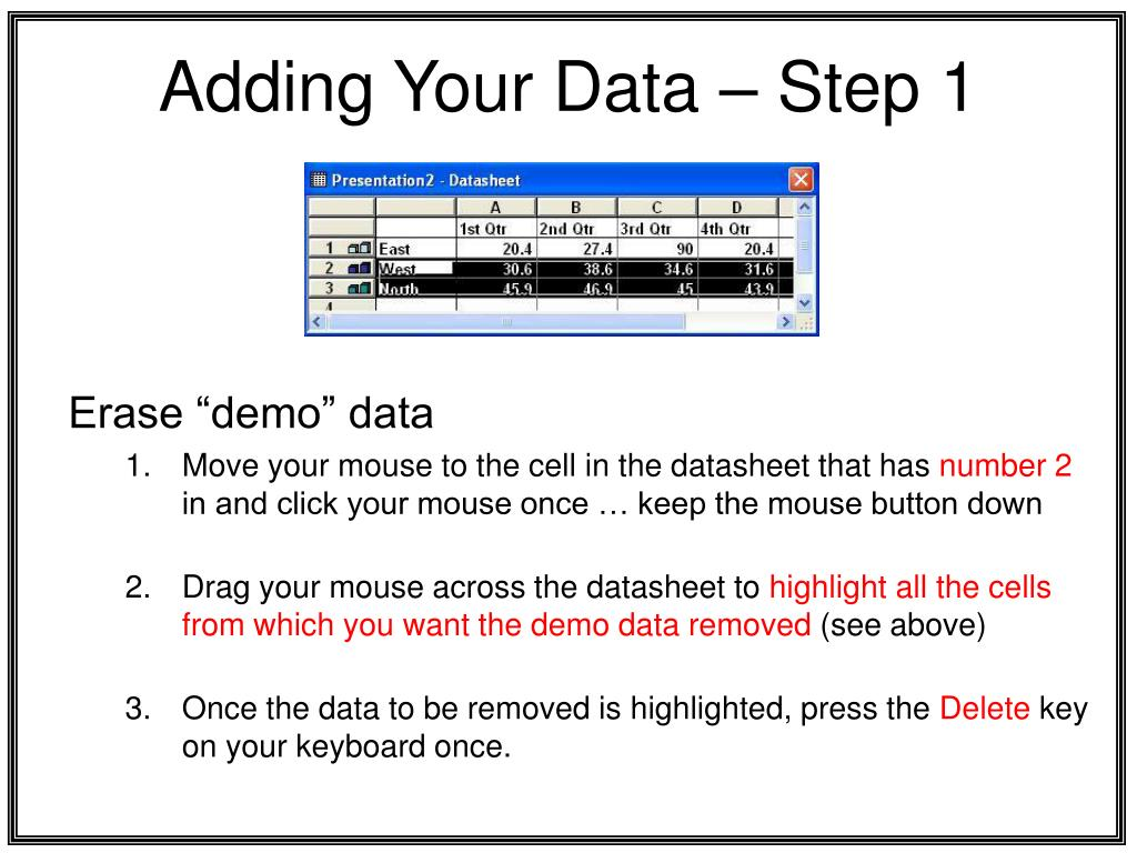 Adding Your Data – Step 1
