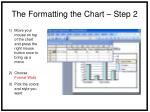 the formatting the chart step 2