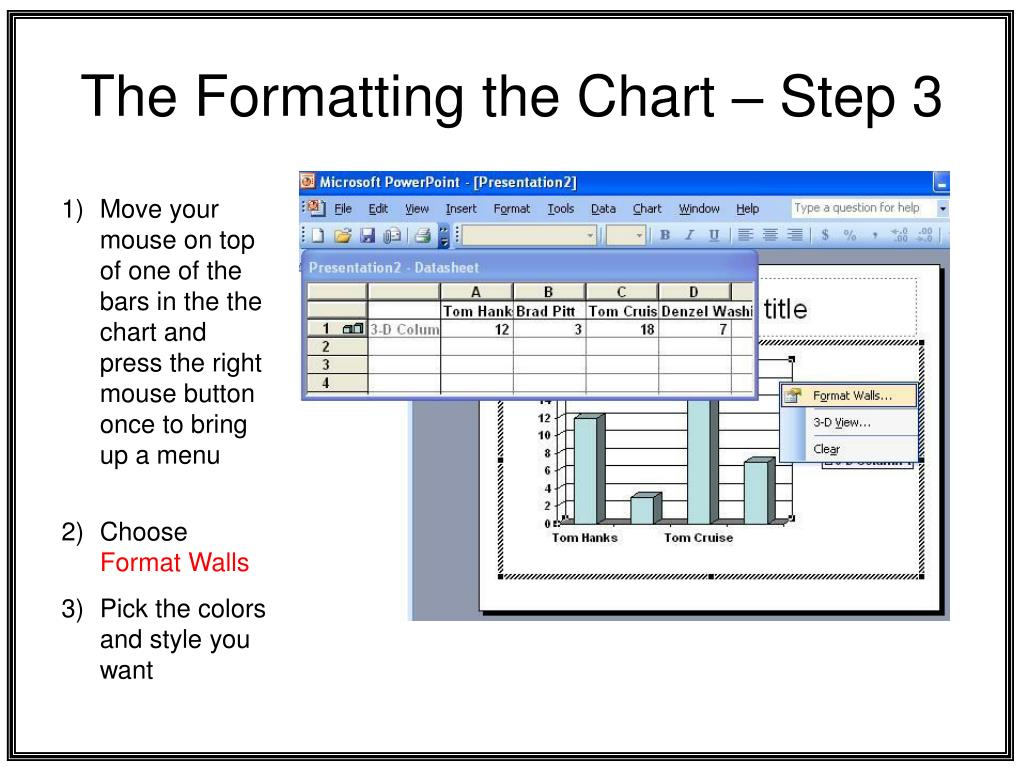 The Formatting the Chart – Step 3