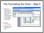 the formatting the chart step 3