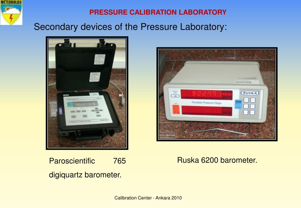 PRESSURE CALIBRATION LABORATORY