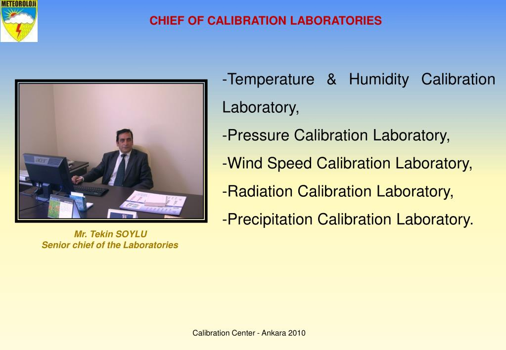 CHIEF OF CALIBRATION LABORATORIES