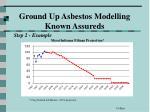 ground up asbestos modelling known assureds39