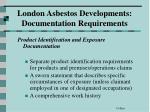london asbestos developments documentation requirements65