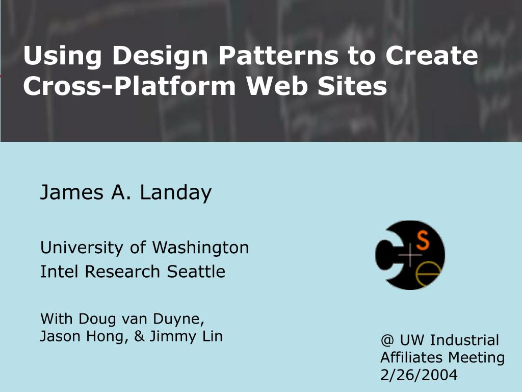 using design patterns to create cross platform web sites l.
