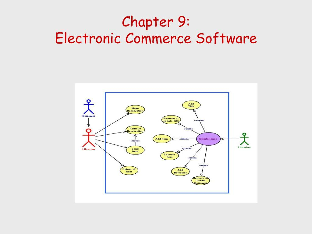 chapter 9 electronic commerce software l.