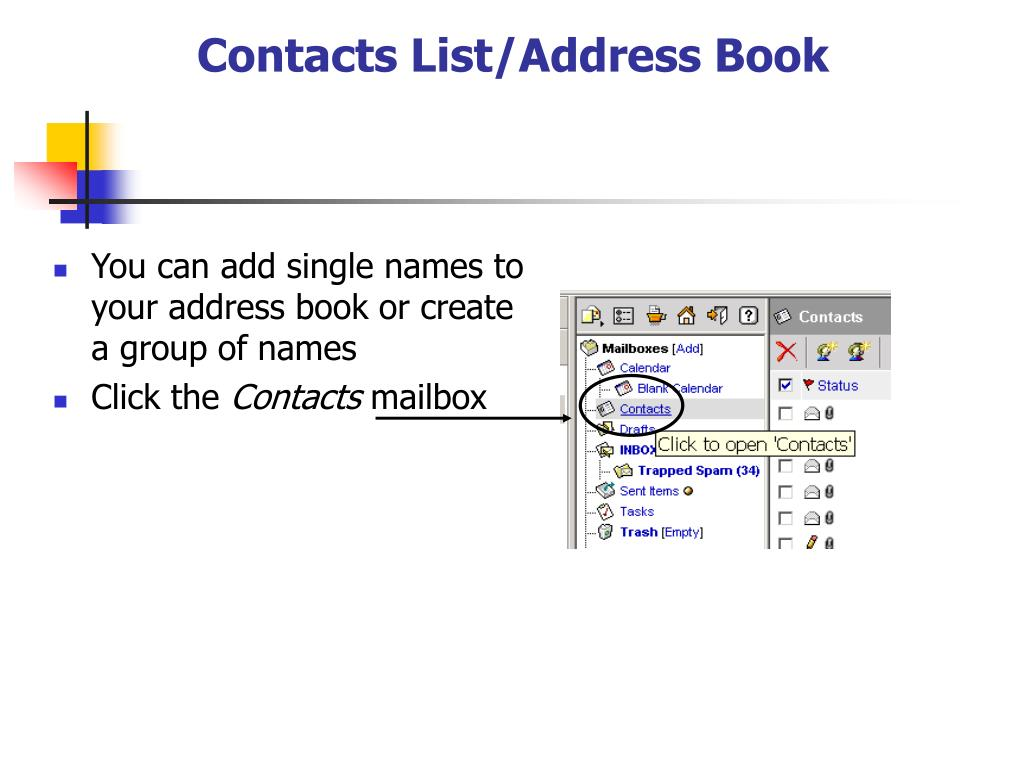 Contacts List/Address Book