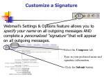 customize a signature
