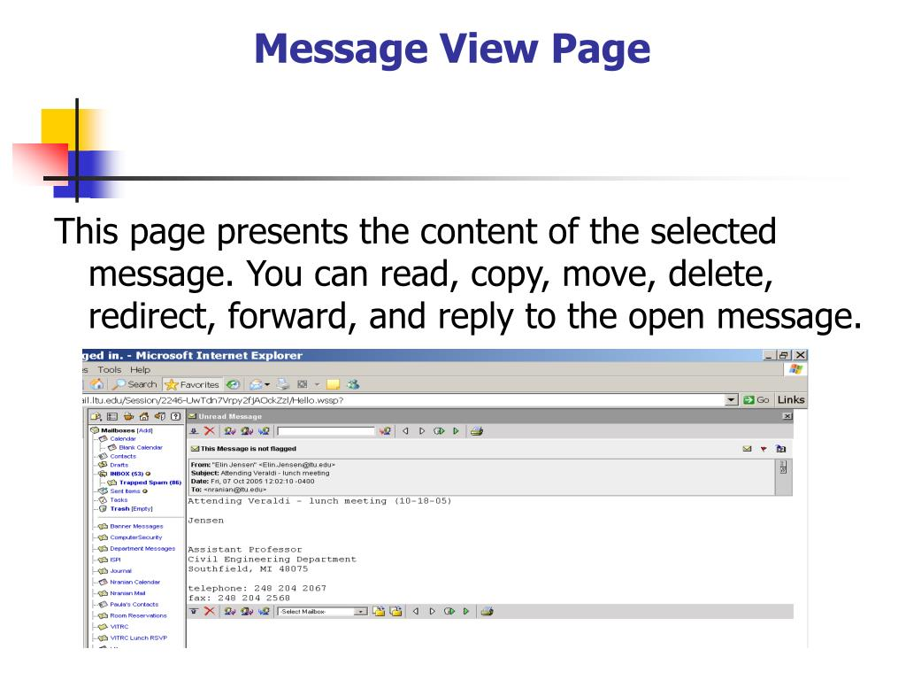 Message View Page
