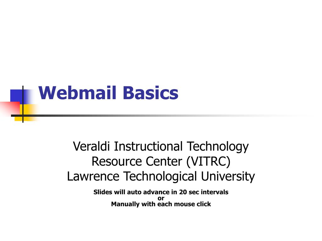 webmail basics l.