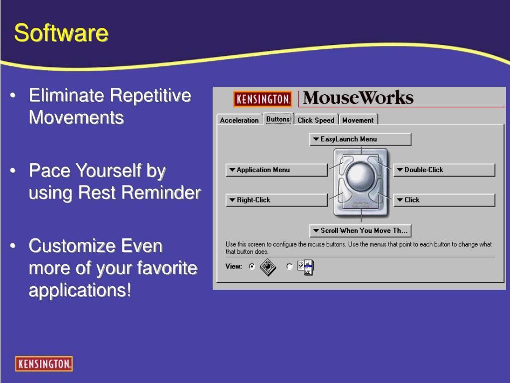 Eliminate Repetitive Movements