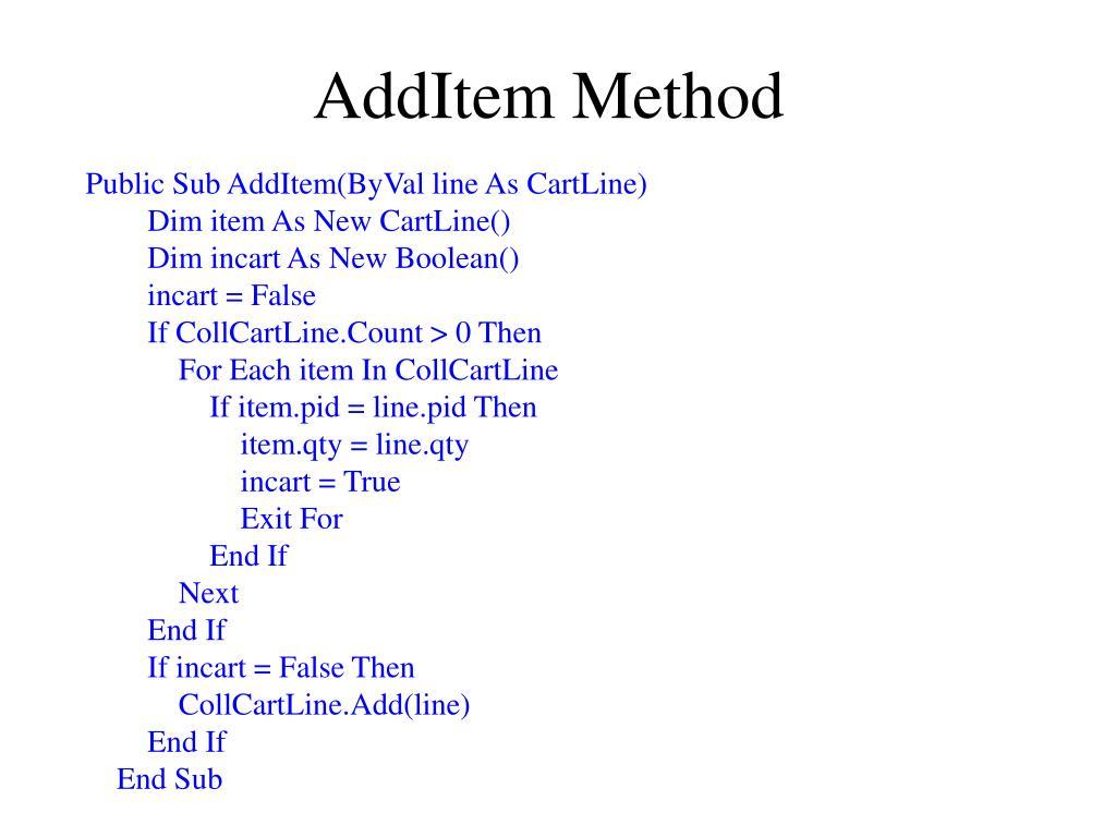 AddItem Method