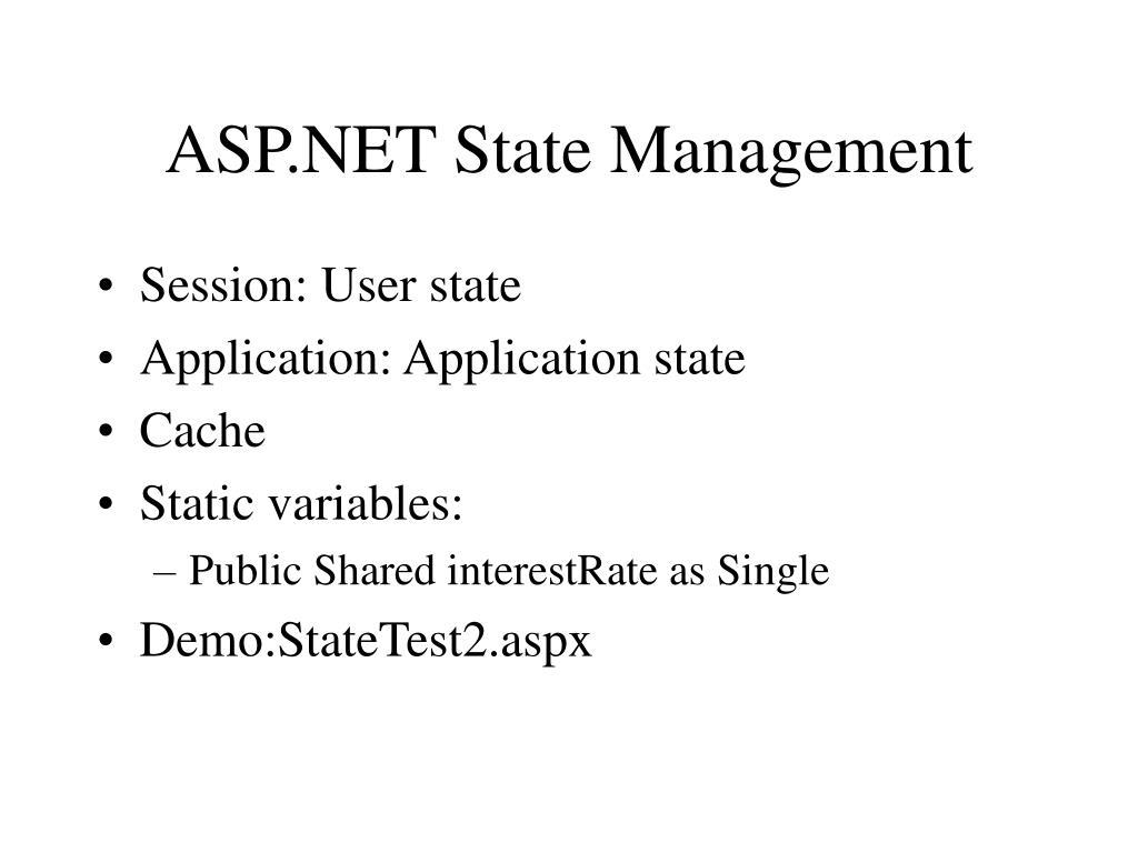 ASP.NET State Management