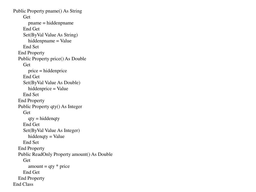 Public Property pname() As String