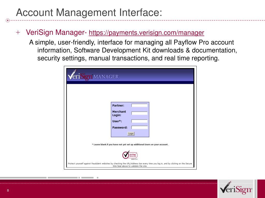 VeriSign Manager-