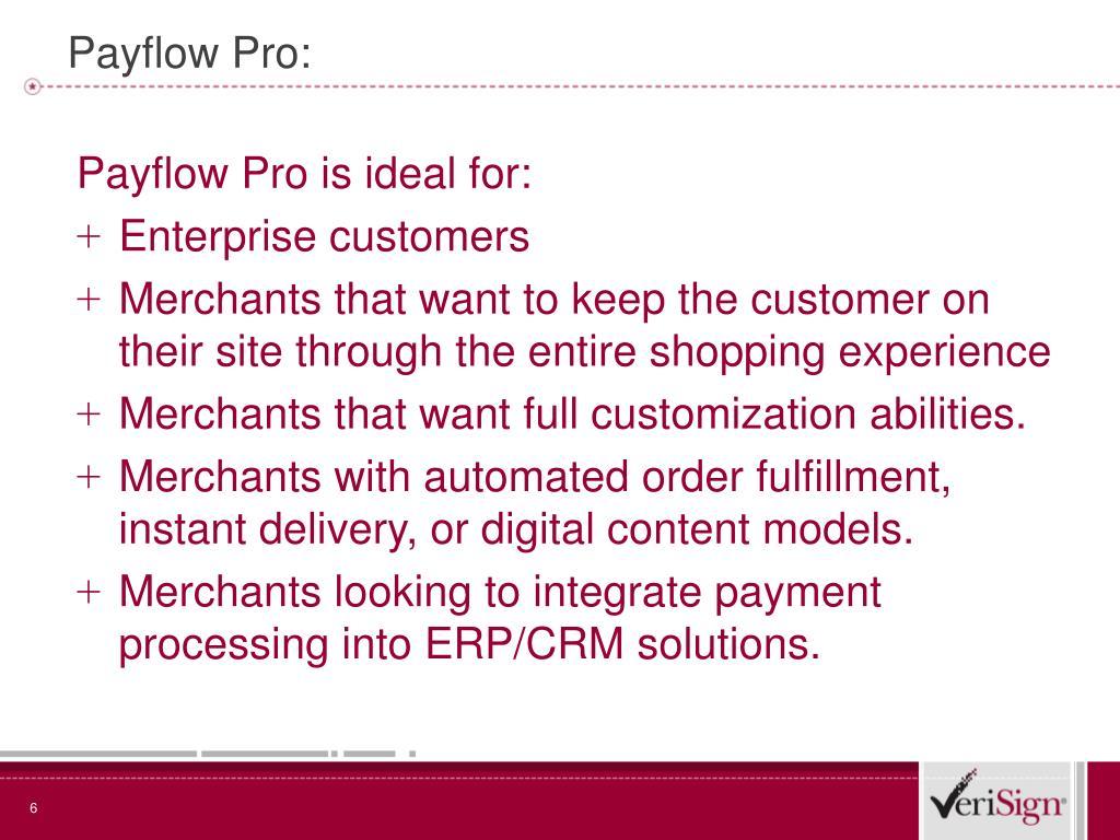 Payflow Pro: