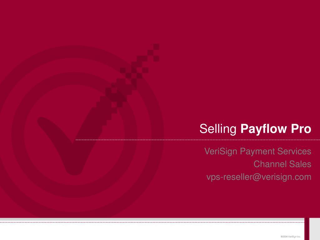 selling payflow pro l.
