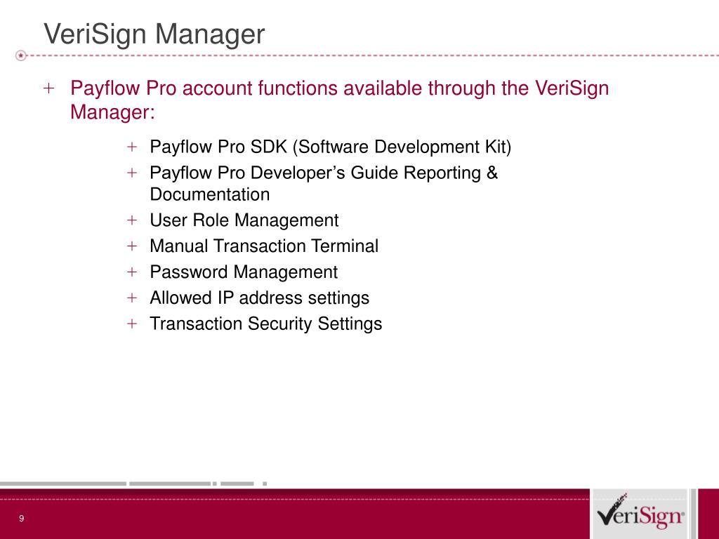 VeriSign Manager