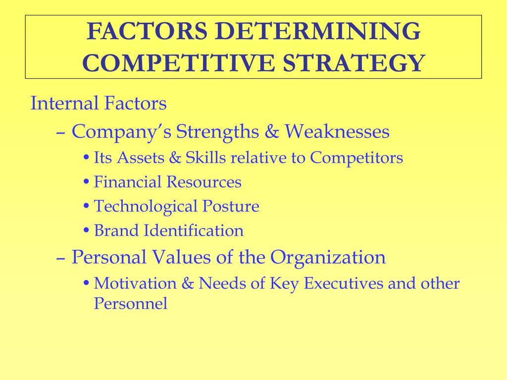 factors determining motivational