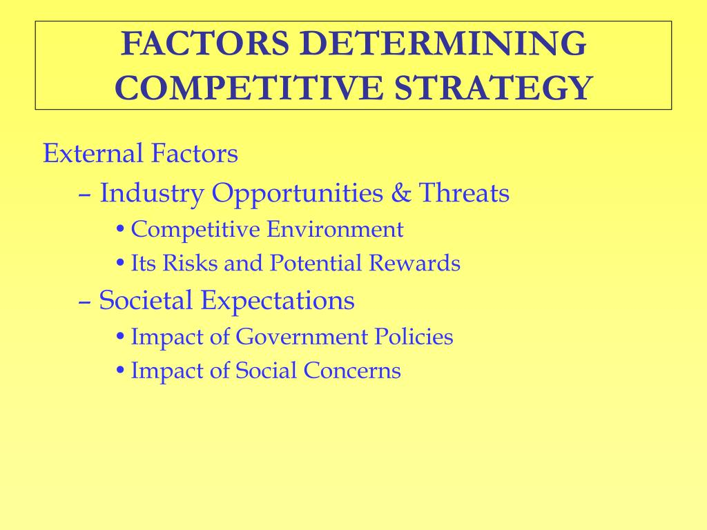 competitive strategies government policies
