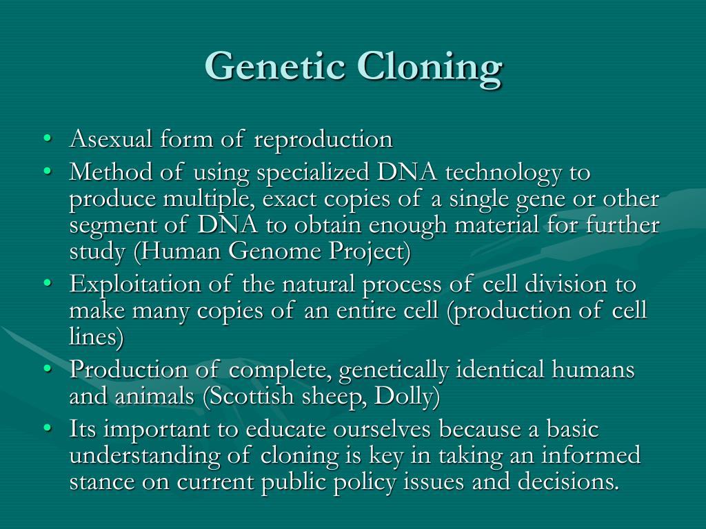 gene cloning methodology of dna