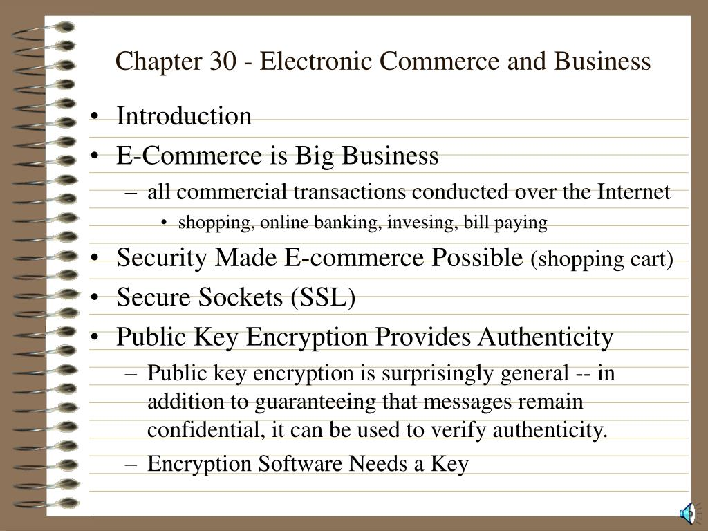 chapter 30 electronic commerce and business l.