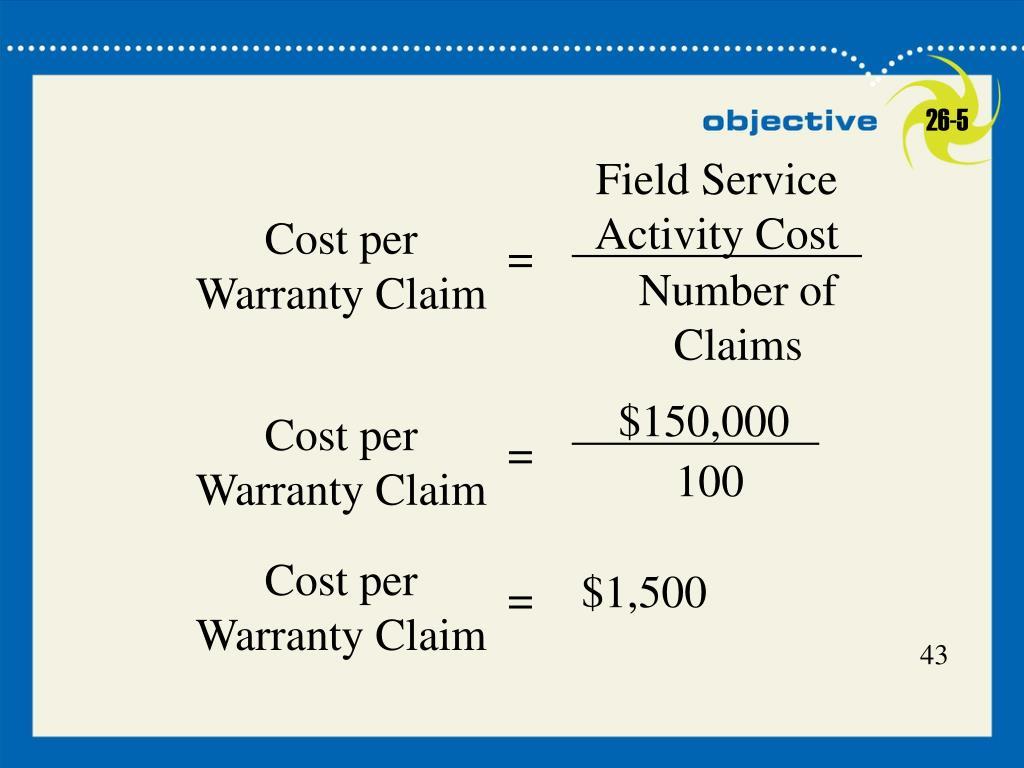 Field Service Activity Cost