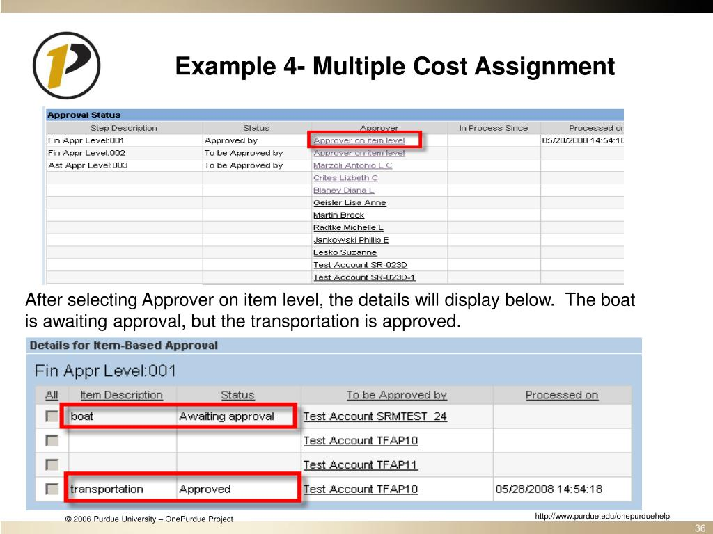Example 4- Multiple Cost Assignment