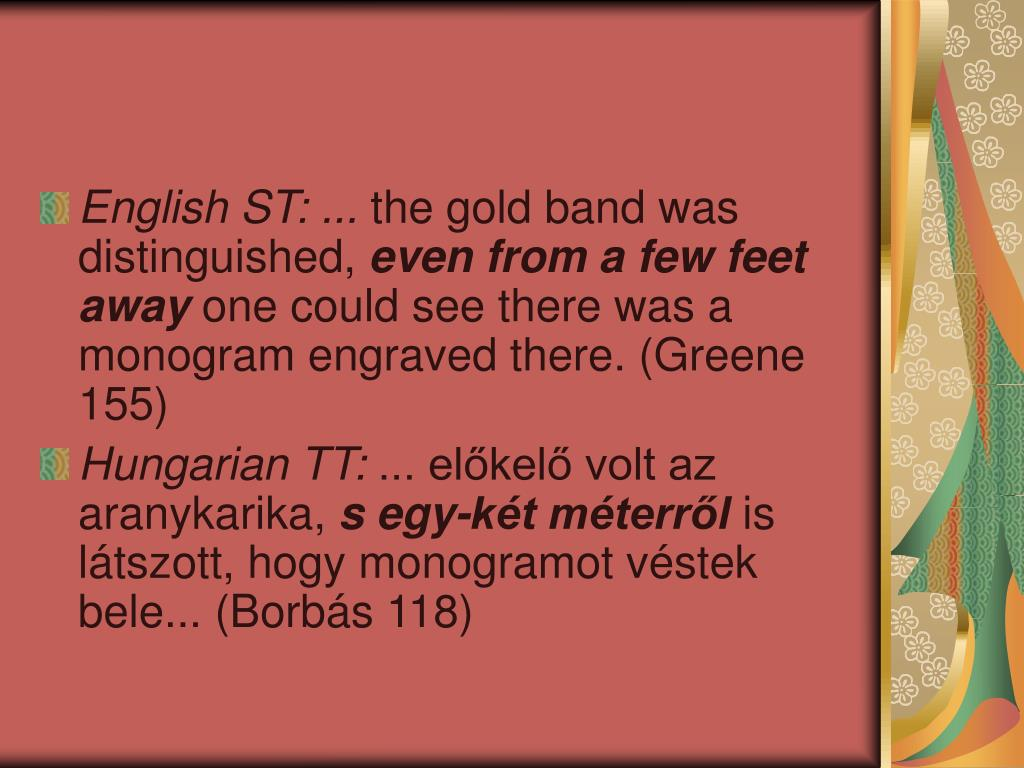 English ST: ...