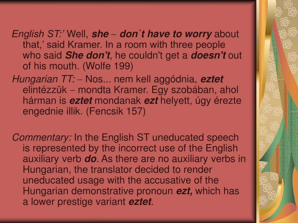 English ST:'