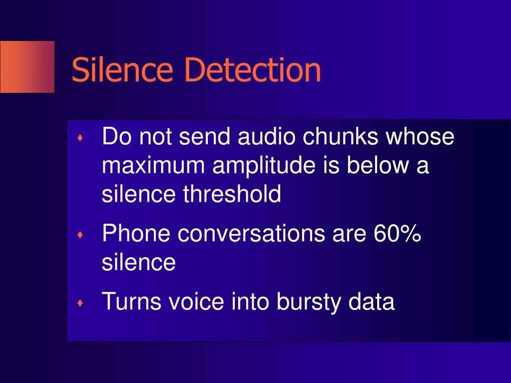 Silence Detection